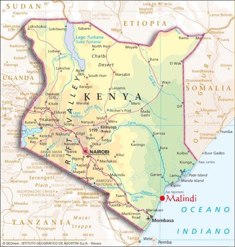 Malindi Cartina Geografica.Kenya Vacanze
